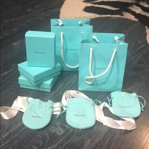 TIFFANY'S  Gift Set.Boxes, bags, pouches & ribbons